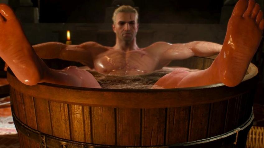 Первый взгляд на фигурку Геральта в ванночке