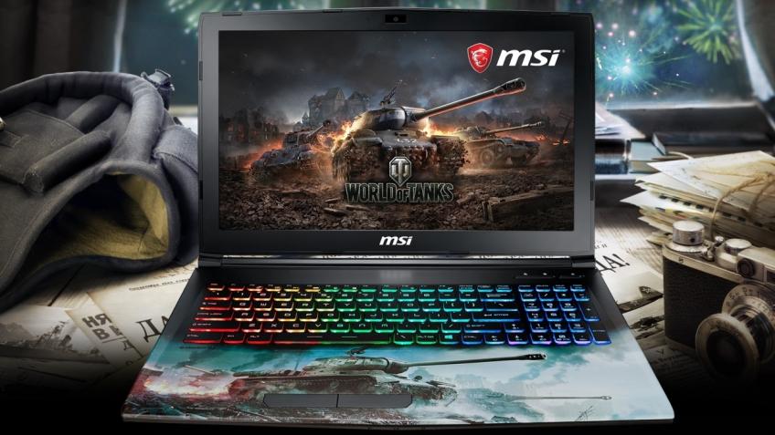 MSI и Wargaming представили ноутбук в стиле World of Tanks