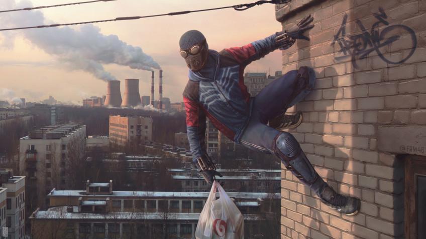 Художник представил жизнь Человека-паука в сибирской провинции