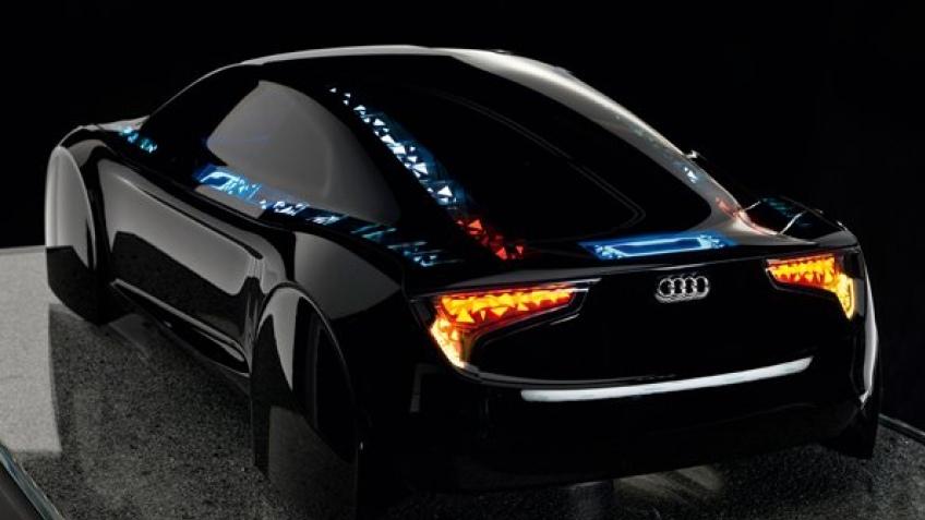 Автомобильное будущее Audi со светодиодами на корпусе
