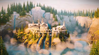 В Minecraft воссоздали Ривенделл из «Властелина Колец»