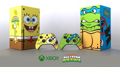 Xbox представила консоли в виде Губки Боба и Леонардо из «Черепашек-ниндзя»