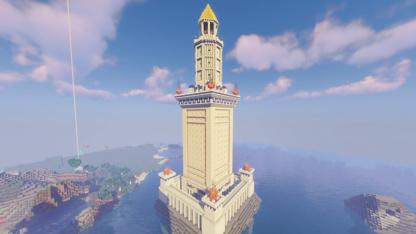 Поклонники Civilization VI решили воссоздать знакомые чудеса света в Minecraft