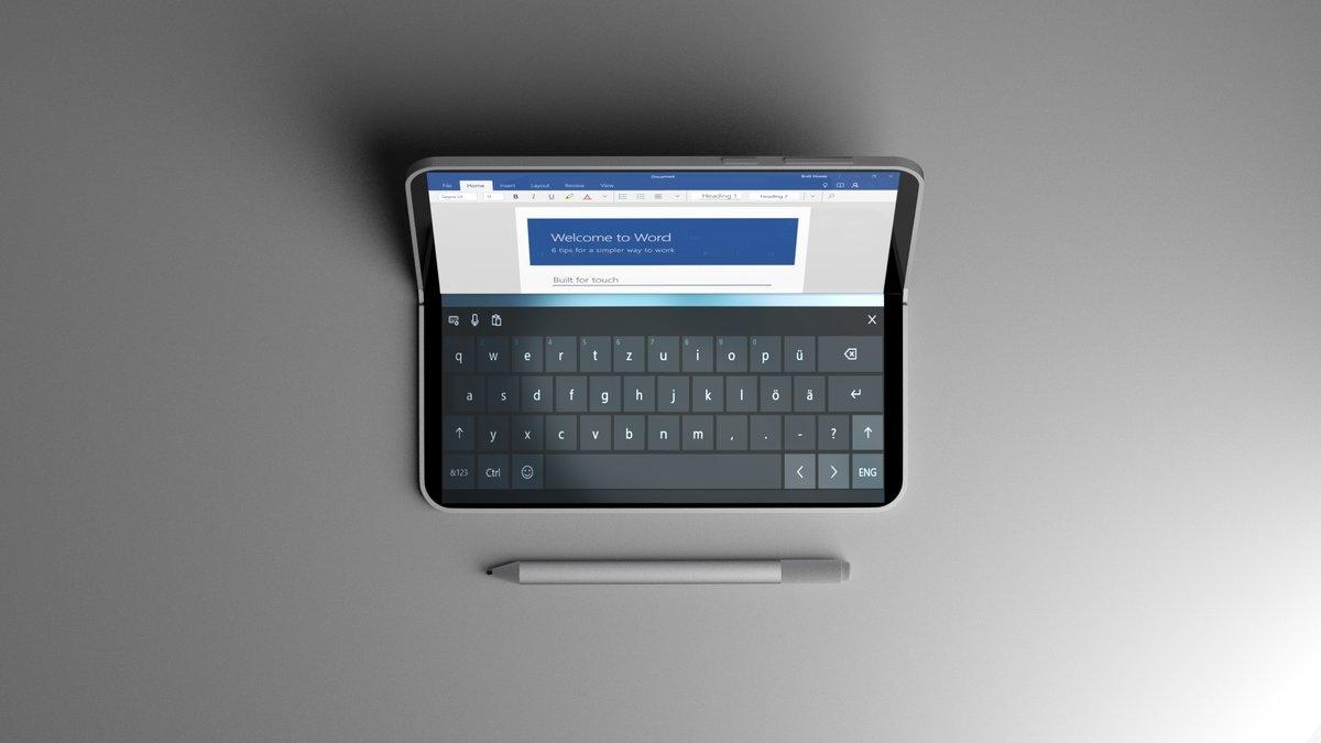 Утечка: Microsoft работает над новым устройством с двумя экранами