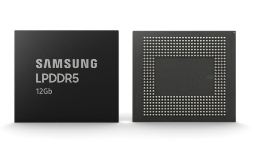 Samsung начала производить микросхемы памяти LPDDR5 на12 Гбит для смартфонов