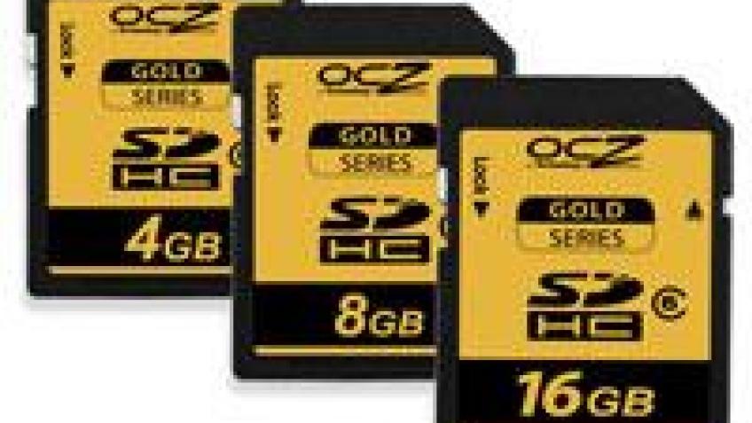 OCZ представила карты памяти SDHC Gold Series