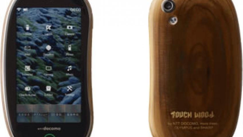 Деревянный телефон NTT Docomo
