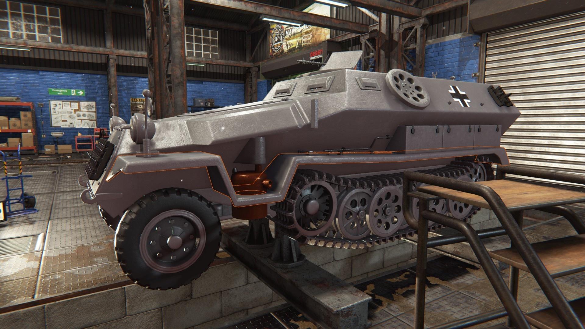 У Tank Mechanic Simulator наконец появилась дата релиза — 20 февраля