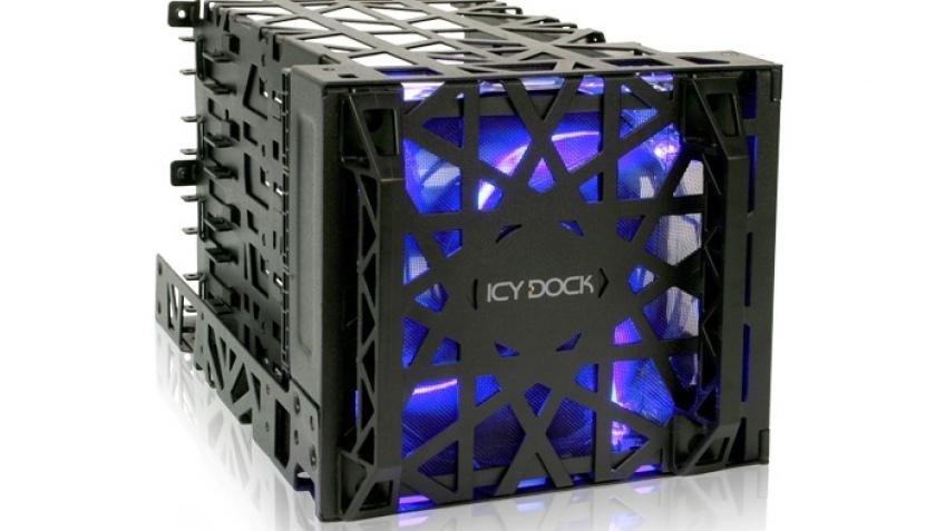Корзина Icy Dock Black Vortex MB074SP-B вмещает четыре накопителя