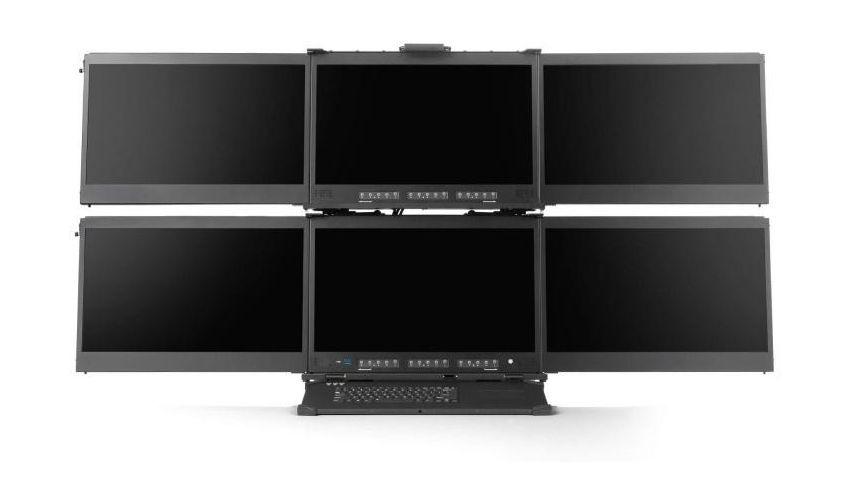 Мобильная рабочая станция Mediaworkstations a-X2P оснащена шестью дисплеями