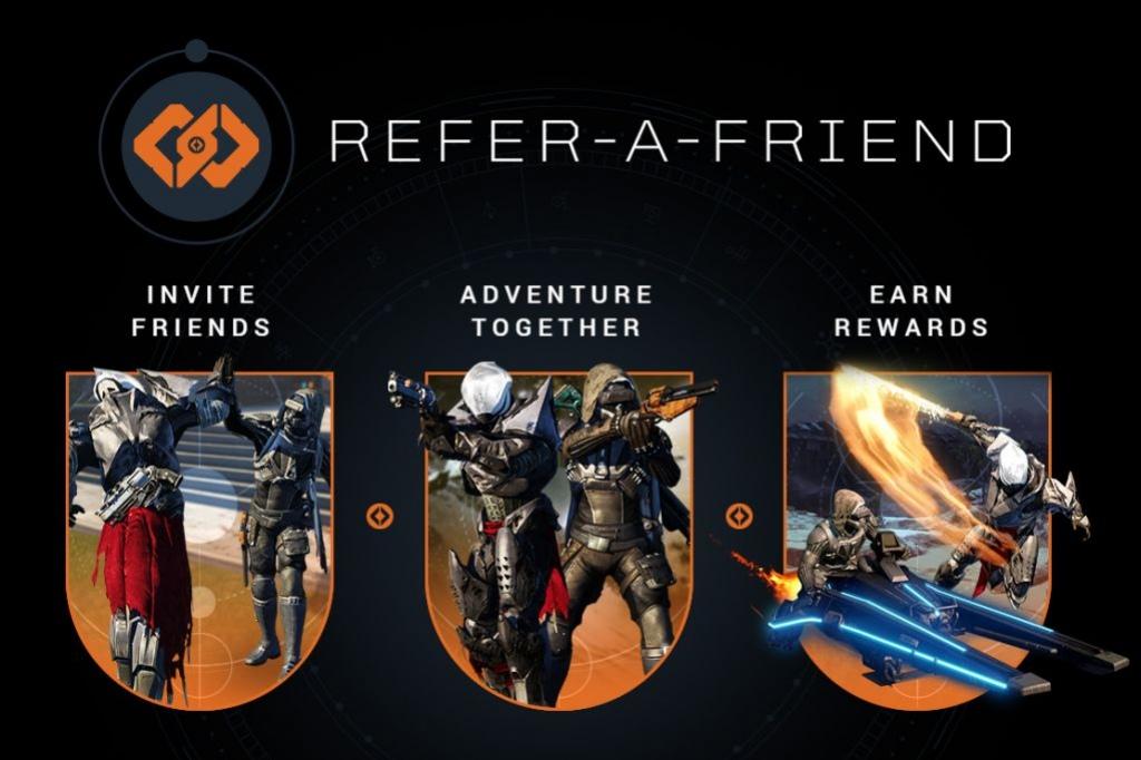В Destiny заработала программа привлечения друзей