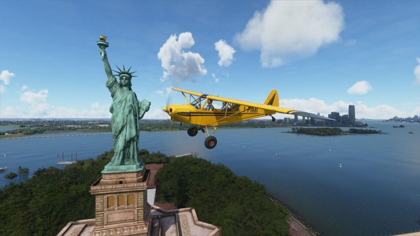 Америка стала вновь великой в Microsoft Flight Simulator