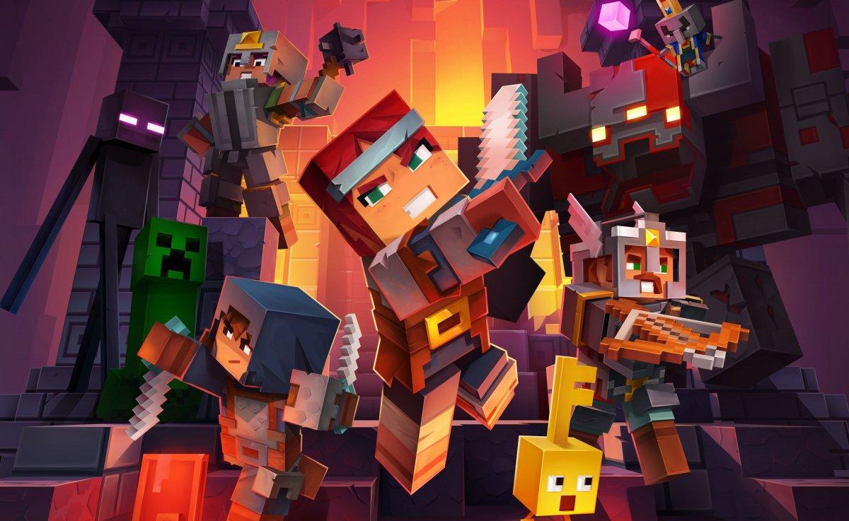 Авторы Minecraft Dungeons показывают героев и злодеев