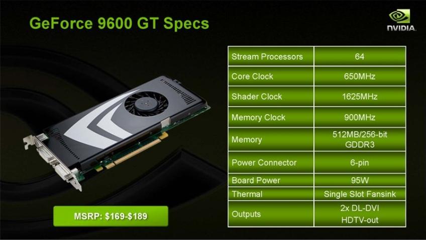 NVIDIA GeForce 9600 GT – официально