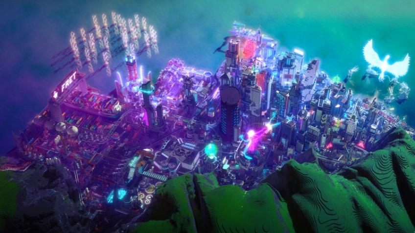 Энтузиасты построили в Minecraft футуристический город, похожий на Найт-Сити из Cyberpunk 2077