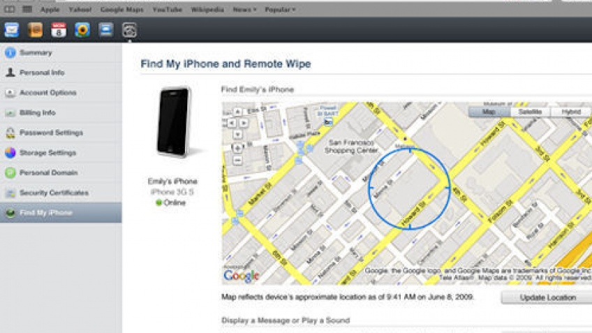 Функция «Find My iPhone» помогла найти воров