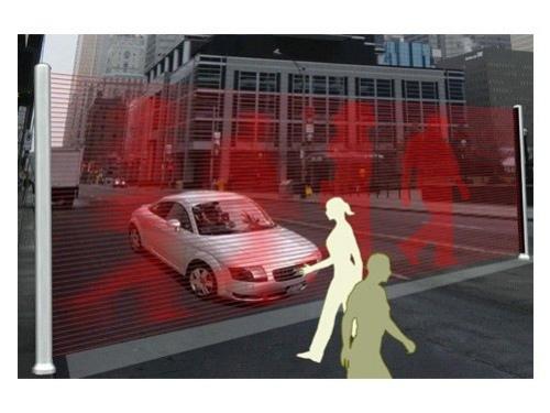 Виртуальная стена защитит пешеходов