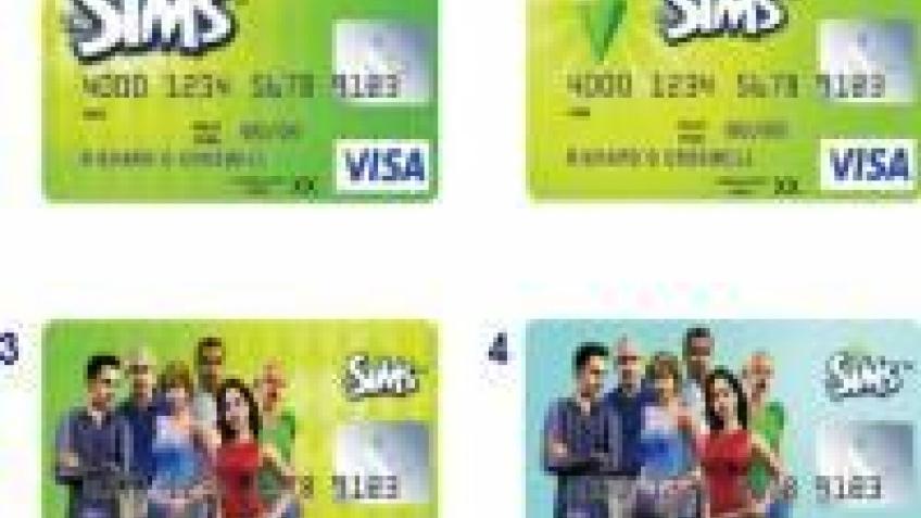 Кредитка в стиле The Sims
