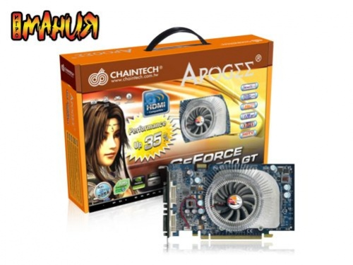 Разогнанный GeForce 8500 GT от Chaintech