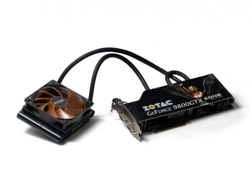 GeForce 9800 GTX с водяным охлаждением от Zotac