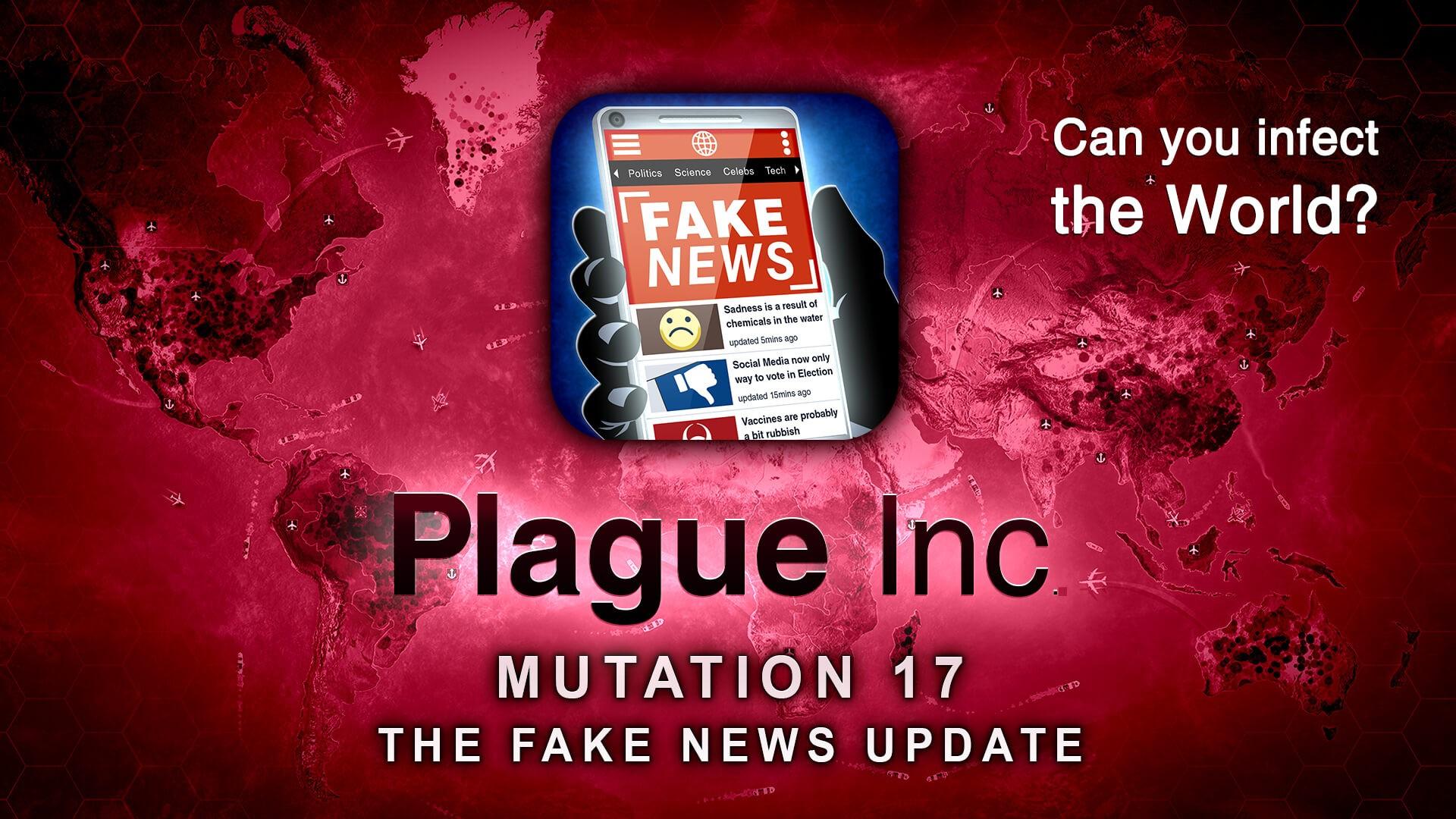 Фальшивые новости в Plague Inc заменят смертельные вирусы