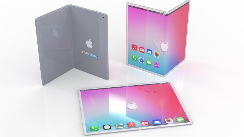 Так может выглядеть складной iPad с гибким экраном