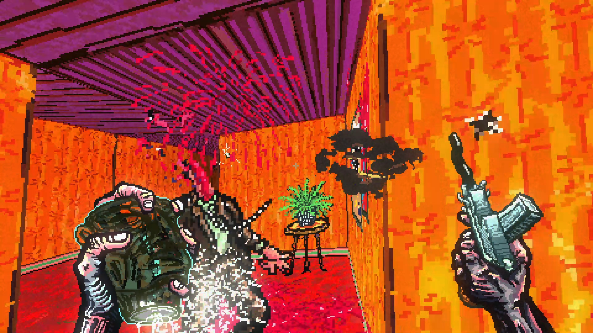 Психоделический ретро-шутер Post Void вышел в Steam