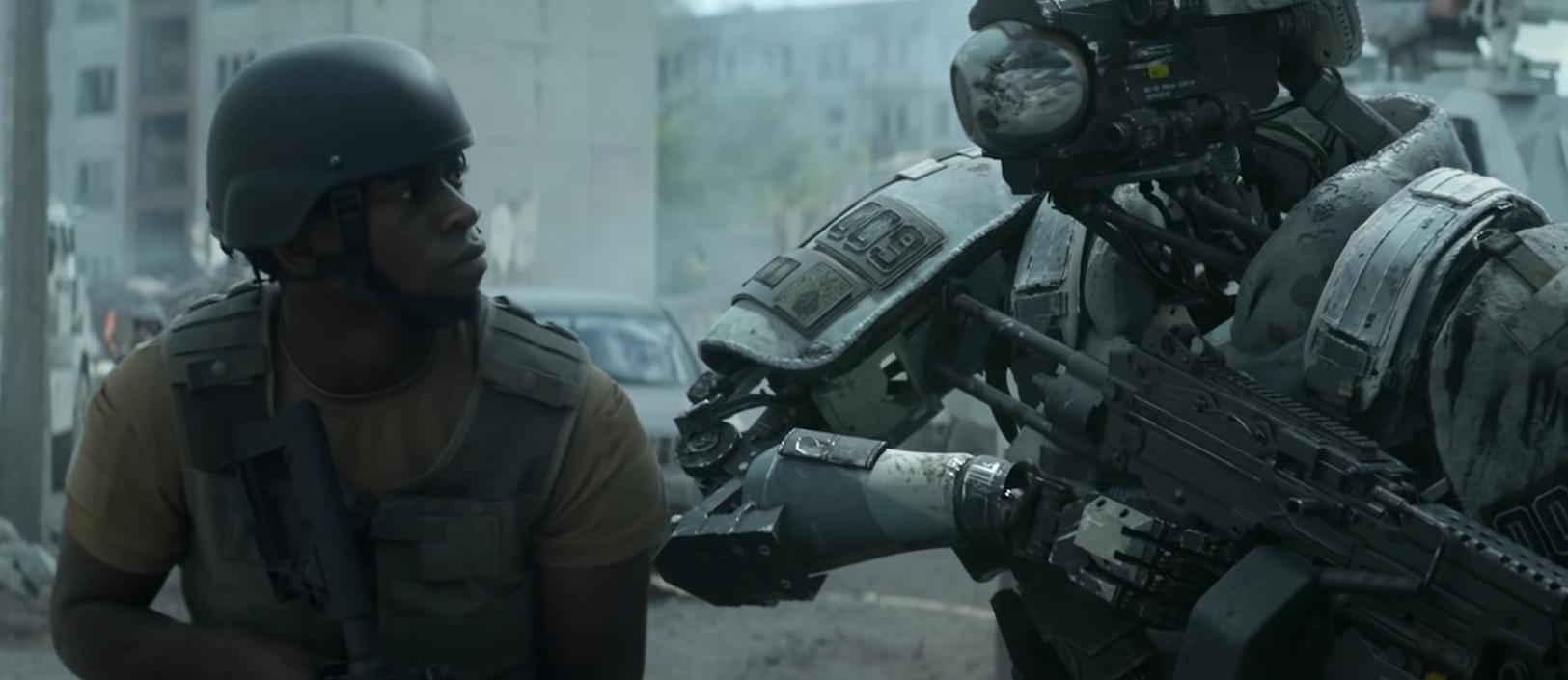 В трейлере «Смертельной зоны» автора «1408» люди и андроиды воюют друг с другом