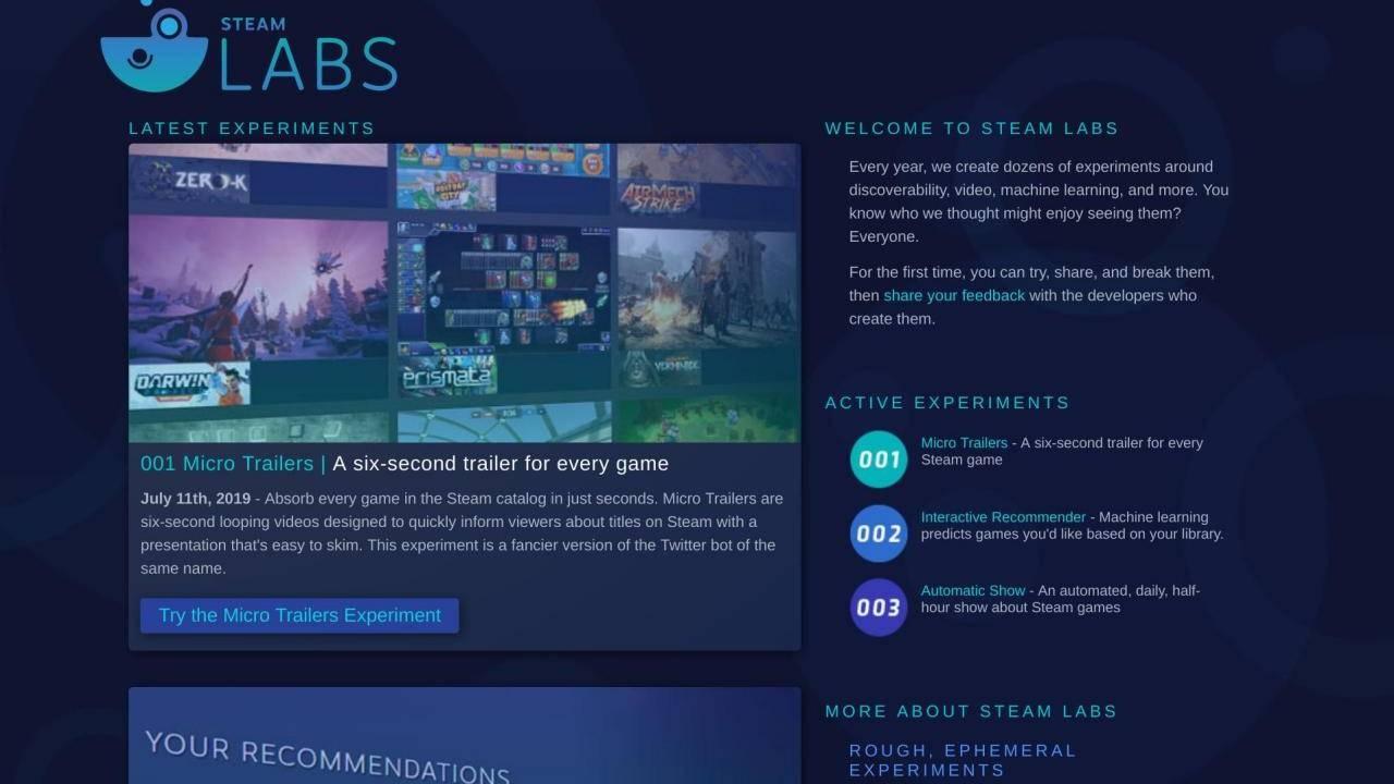 Valve рассказала о первых результатах Steam Labs