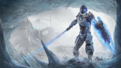 На новых кадрах из игры Elex показали врагов и героев в футуристической броне