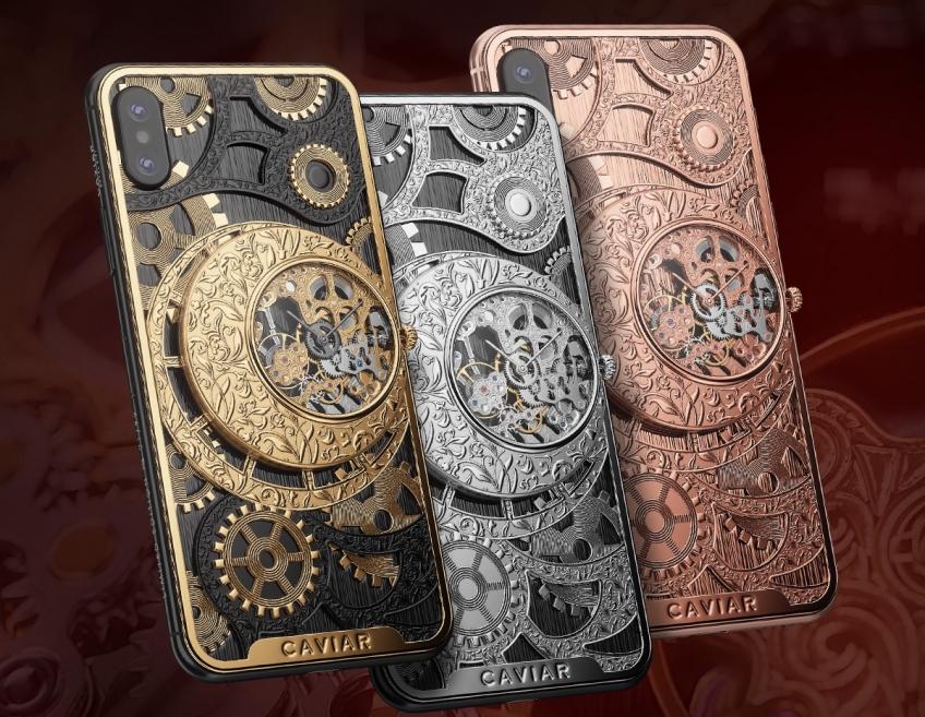 В России создан iPhone Xs со встроенными механическими часами