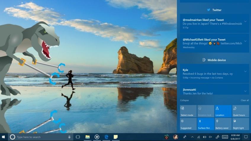 Microsoft выпустила превью Windows 10 Fall Creators Update