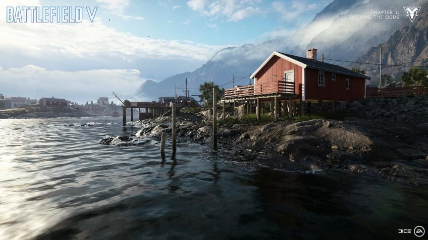 Для Battlefield V вышло крупное обновление с двумя новыми картами и повышением ранга