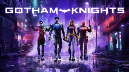 Рыцари Готэма собрались в тени Бэтмена на постере Gotham Knights