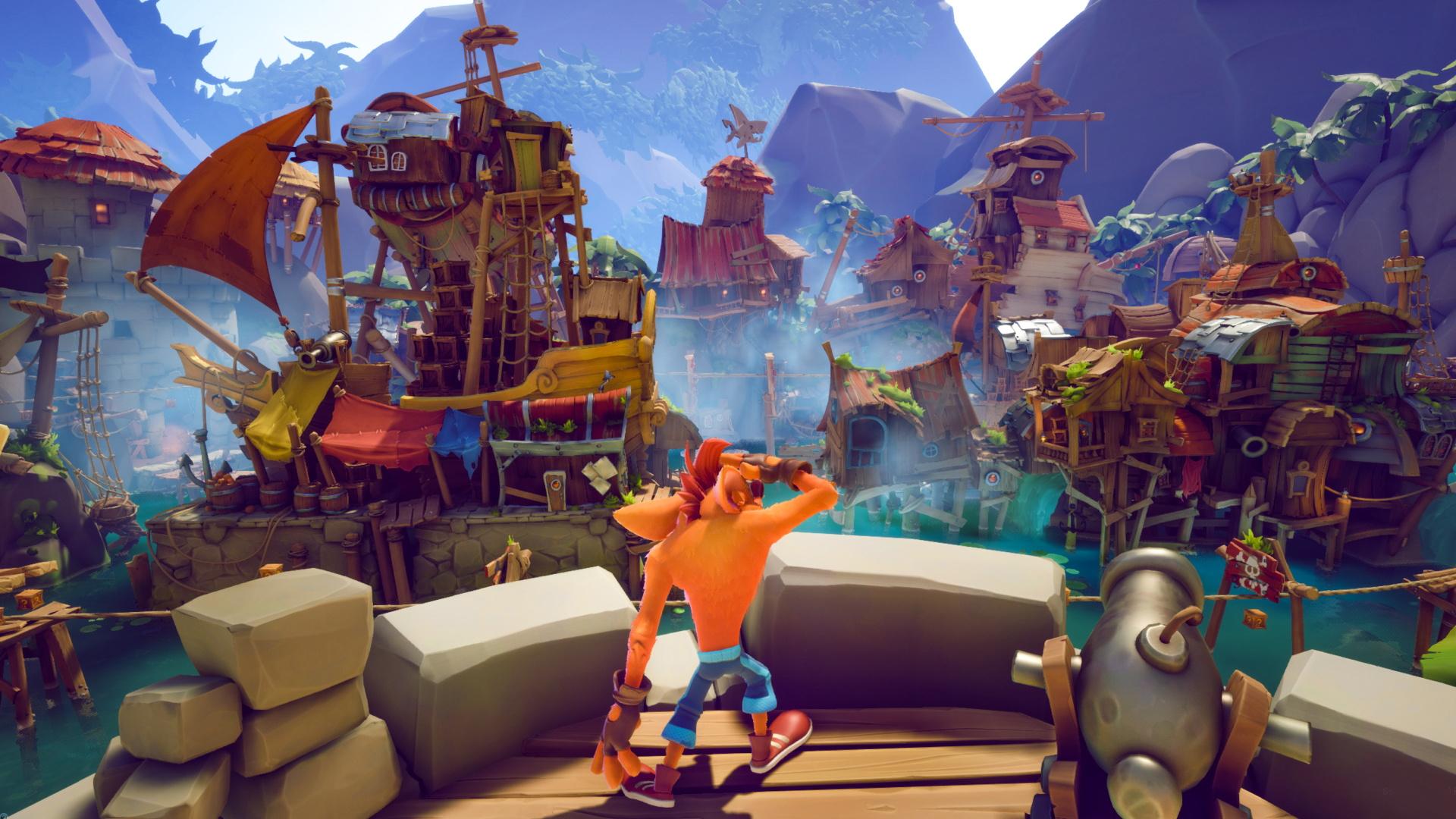 Пиратский уровень в новом геймплейном ролике Crash Bandicoot 4: It's About Time