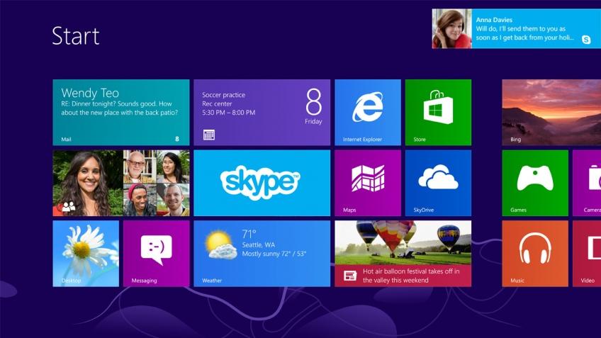 Microsoft представила Skype для Windows 8