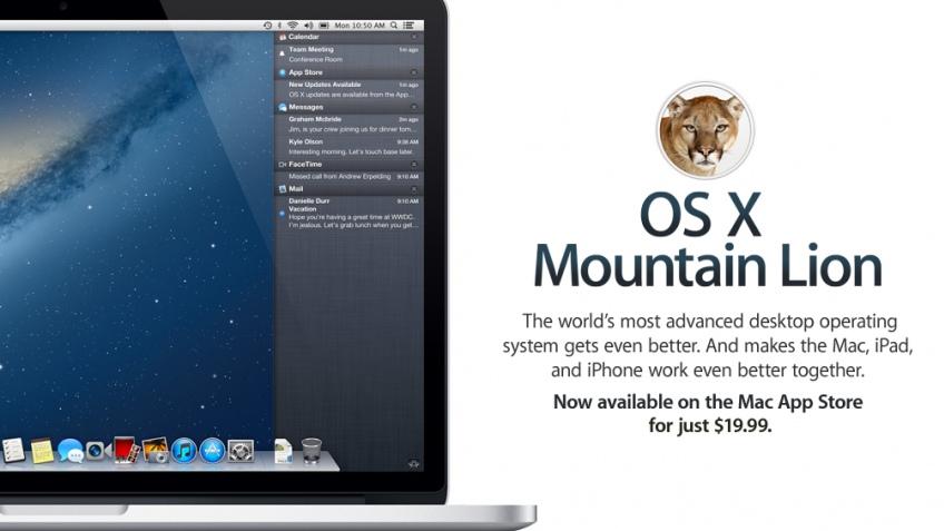 Apple начала продавать операционную систему OS X 10.8 Mountain Lion
