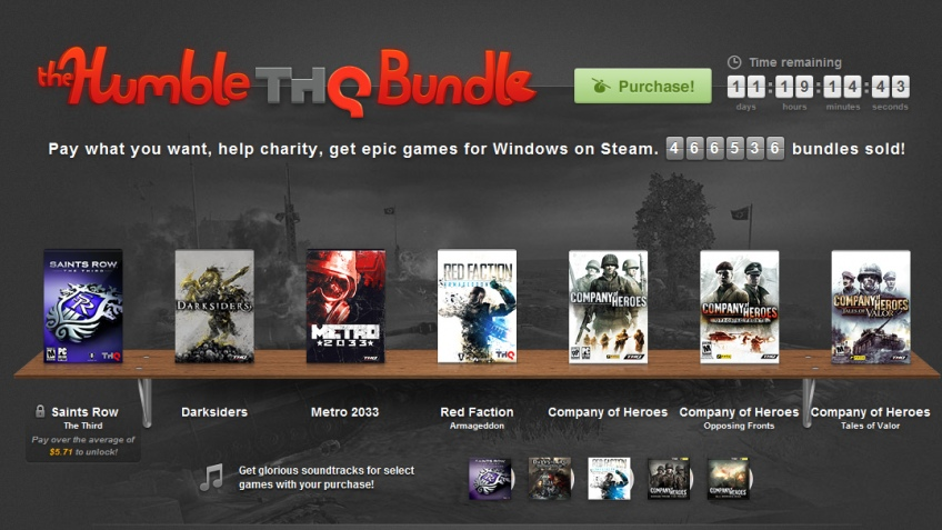 THQ начинает большую распродажу через Humble Bundle