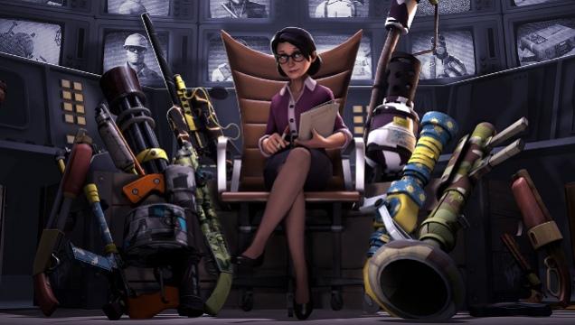 В Team Fortress2  появились контракты и скины для оружия