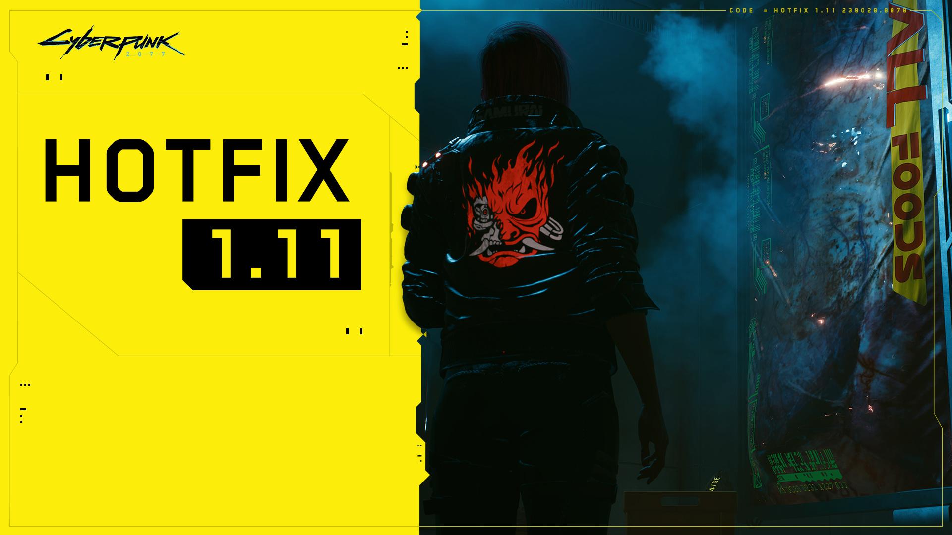 Для Cyberpunk 2077 выпустили хотфикс1.11 с исправлением критического бага