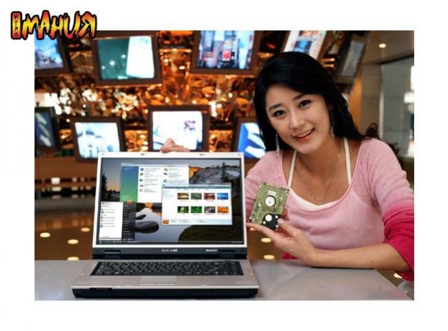 Ноутбук Samsung Q30 с гибридным диском
