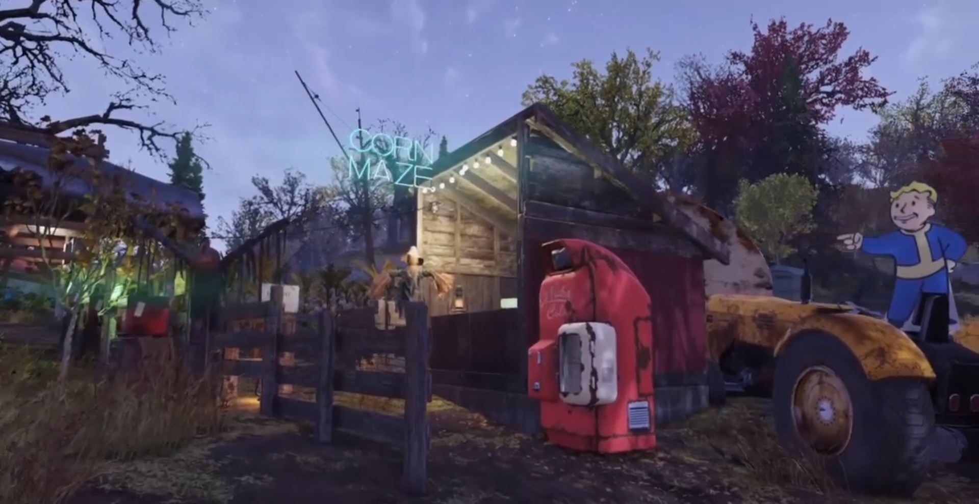 В Fallout76 отпраздновали наступление осени, построив лабиринт из кукурузы