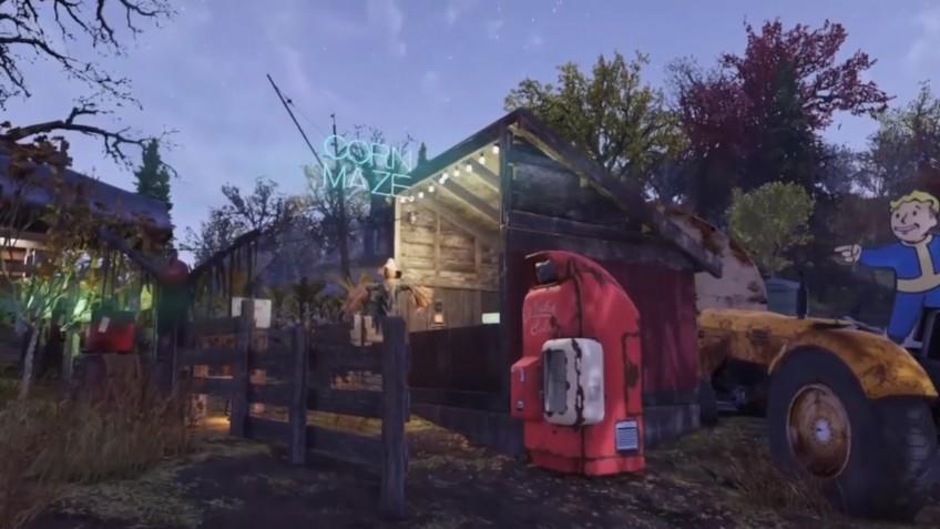 В Fallout 76 отпраздновали наступление осени, построив лабиринт из кукурузы