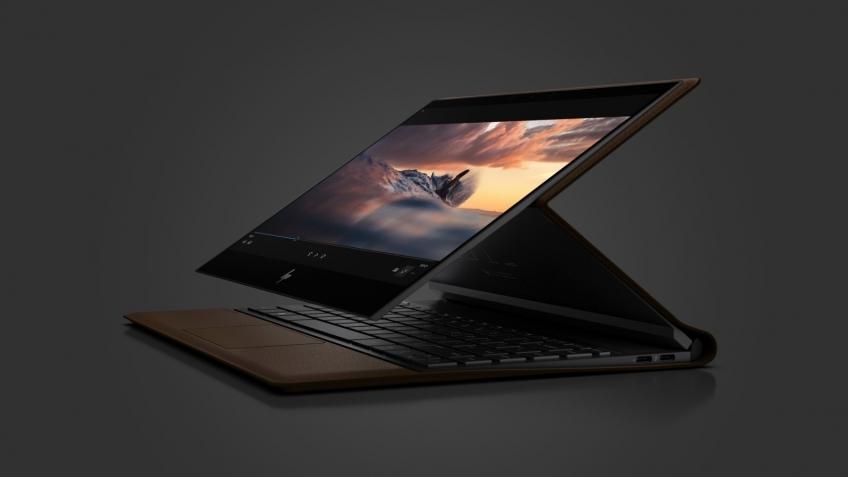 HP представила кожаный ноутбук-трансформер Spectre Folio
