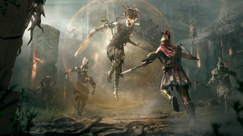 Спартанка против Медузы — 10 минут геймплея Assassin's Creed Odyssey