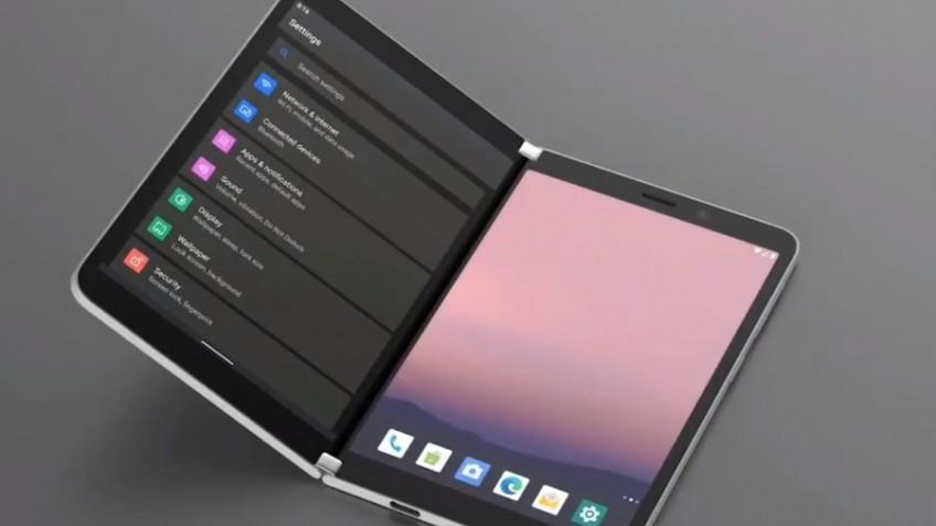 Двухэкранный смартфон Microsoft Surface Duo показали на видео