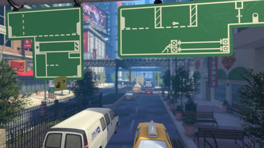 В головоломке The Pedestrian мы путешествуем по дорожным знакам и схемам