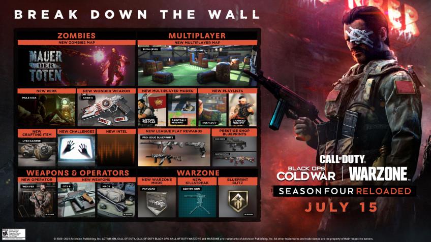 Вторая половина 4 сезона Black Ops Cold War и Warzone стартует уже 15 июля1