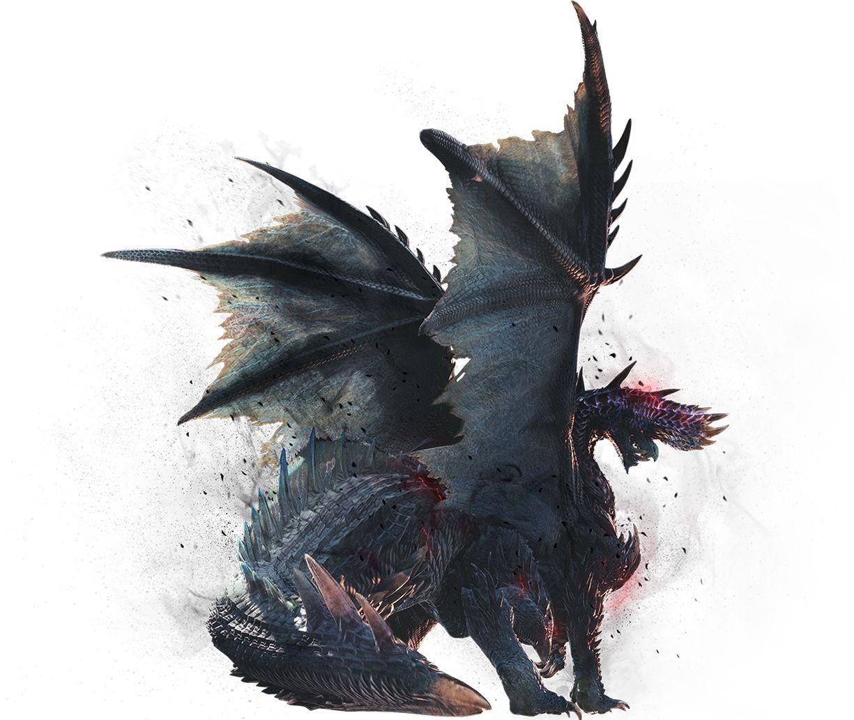 В Monster Hunter World: Iceborne появится пылающий чёрный дракон Алатреон