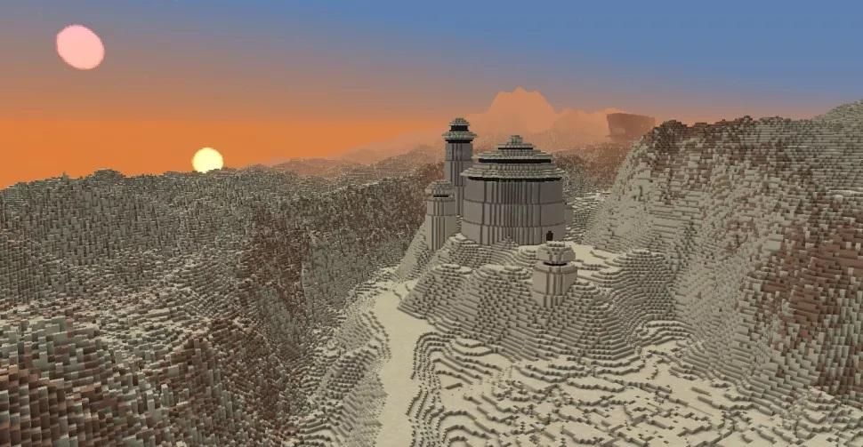 Фанат воссоздаёт планеты из «Звёздных войн» в Minecraft1